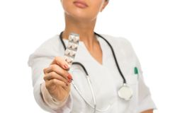 Young brunette doctor woman Stock Photos