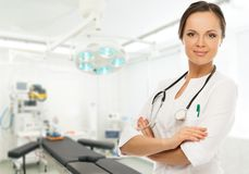 Young brunette doctor woman Royalty Free Stock Image