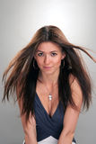 Young brunette fashionable woman beauty portrait Royalty Free Stock Photos