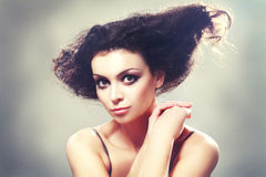 Young brunette female royalty free stock photography