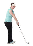 Young brunette female golfer Royalty Free Stock Photography