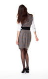 Young brunette, full length, rear view Stock Photography