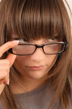 Young brunette in glasses Royalty Free Stock Images
