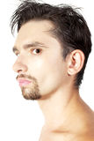 Young brunette man with a stylish haircut Royalty Free Stock Images