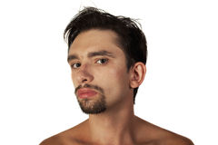 Young brunette man with a stylish haircut Royalty Free Stock Image