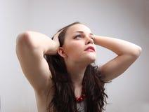 Young brunette portrait Stock Photos