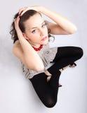 Young brunette portrait Stock Images