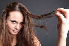 Young brunette portrait Stock Image