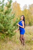 Young brunette from Russia royalty free stock photo