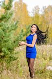 Young brunette from Russia royalty free stock images