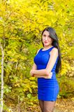 Young brunette from Russia royalty free stock image