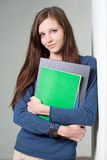 Young brunette student girl. Royalty Free Stock Images