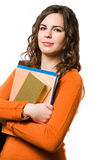 Young brunette student girl. Royalty Free Stock Photography