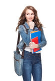 Young brunette student. Royalty Free Stock Image