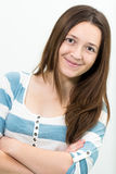 Young Brunette Teenager looking at camera Stock Photos