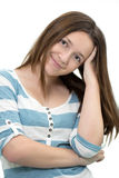 Young Brunette Teenager looking at camera Royalty Free Stock Images