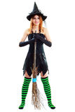 Young brunette witch Royalty Free Stock Photography