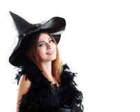 Young brunette witch Stock Photography