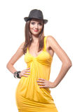 Young brunette woman Royalty Free Stock Photos