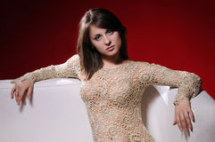 Young brunette woman Royalty Free Stock Images