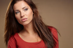 Young brunette woman Stock Image