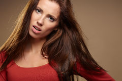 Young brunette woman Stock Photos