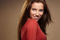 Young brunette woman Royalty Free Stock Image