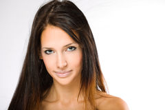 Young brunette woman beauty shot. Royalty Free Stock Photography