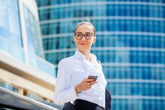 Young brunette woman calling by phone Stock Photos