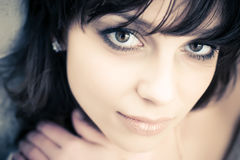 Young brunette woman concept portrait Royalty Free Stock Photography