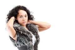 Young brunette woman portrait Royalty Free Stock Image