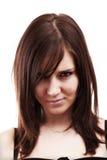 Young brunette woman portrait Stock Photos