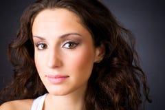 Young brunette woman portrait Stock Photo