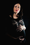 Young brunette woman pregnancy Royalty Free Stock Photos