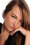 Young Brunette Woman's portrait Stock Photos