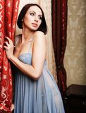 Young brunette woman wearing lingerie Royalty Free Stock Photography