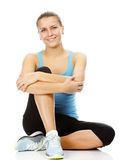 Young brunette woman wearing sports clothes Royalty Free Stock Photo
