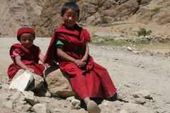 Young Buddhist monks Royalty Free Stock Photo