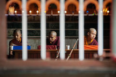 Young Buddhist Monks at Namdroling Monastery Stock Image