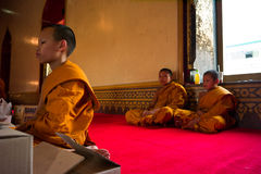 Young Buddhist Monks Royalty Free Stock Photography