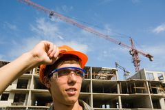 Young builder Royalty Free Stock Images