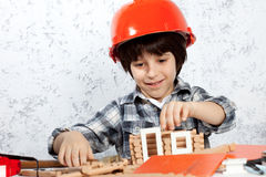 Young builder Stock Photography