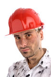 Young builder or a coal miner Stock Photography