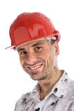 Young builder or a coal miner Stock Photo