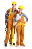 Young builder people royalty free stock image