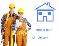 Young builder people Stock Images