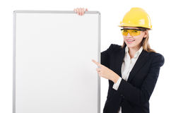 Young builder woman Royalty Free Stock Images