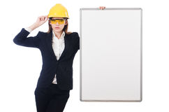 Young builder woman Royalty Free Stock Photography