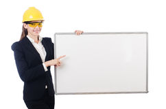 Young builder woman Royalty Free Stock Photos