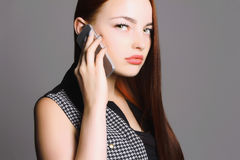 Young buisiness woman royalty free stock images
